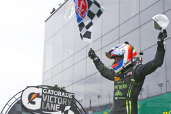 Race winner Pipo Derani, ESM Racing celebrates