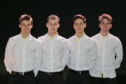 (L to R): Louis Deletraz, Renault Sport Academy driver, Kevin Joerg,  Renault Sport Academy driver, Jack Aitken, Renault Sport Academy driver, Oliver Rowland, Renault Sport Academy driver