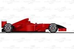 Der Ferrari F2001 von Michael Schumacher in Monza 2001