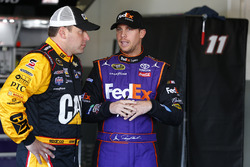 Ryan Newman, Richard Childress Racing Chevrolet, Denny Hamlin, Joe Gibbs Racing Toyota, Kurt Busch, Stewart-Haas Racing Chevrolet