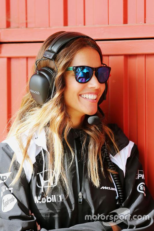 Lara Alvarez, girlfriend of Fernando Alonso, McLaren