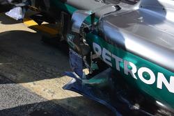 Mercedes AMG F1 W07 Hybrid - bande verticali del deflettore