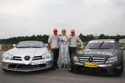 Heikki Kovalainen, McLaren Mercedes, Susie Stoddart, Persson Motorsport AMG Mercedes and Lewis Hamilton, McLaren Mercedes