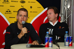 Sebastian Vettel, Scuderia Toro Rosso and Christian Horner, Red Bull Racing, Sporting Director announcement of 2009 Driver line-up