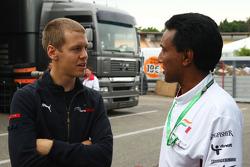 Sebastian Vettel, Scuderia Toro Rosso ve Balbir Singh, Force India F1 Team