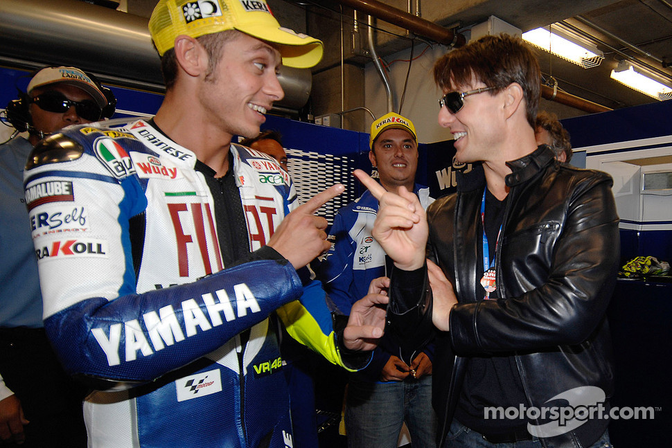 Valentino Rossi and Tom Cruise