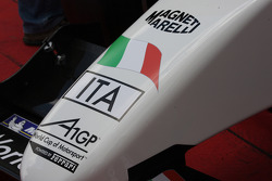 Detail of the A1GP Powered by Ferrari car 2008-09