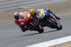 Casey Stoner and Valentino Rossi