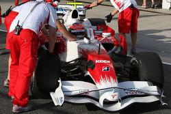 Timo Glock, Toyota F1 Team, slick tyres