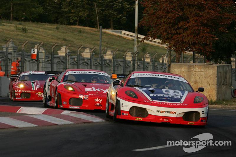 #62 Scuderia Ecosse Ferrari 430: Fabio Babini, Jamie Davies