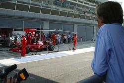 Luca di Montezemolo, Scuderia Ferrari, FIAT Chairman and President of Ferrari watches Kimi Raikkonen, Scuderia Ferrari