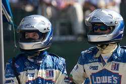 Lowe's Fernandez Racing team members ready for a pit stop