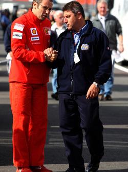Stefano Domenicali, Scuderia Ferrari, Sporting Director talks with the FIA