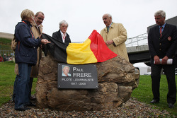 Monument Ceremony of Paul Frere attended by Bernie Ecclestone, President and CEO of Formula One Management