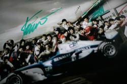 GP2 series autograph poster