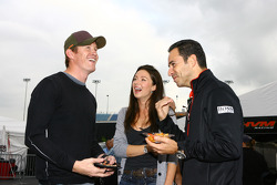 Scott Dixon and Helio Castroneves share a laugh