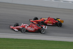 Scott Dixon and Justin Wilson run together