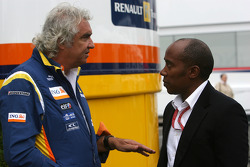 Flavio Briatore, Renault F1 Team, Team Chief, Managing Director, Anthony Hamilton, Father of Lewis Hamilton
