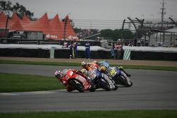 Casey Stoner, Jorge Lorenzo and Valentino Rossi