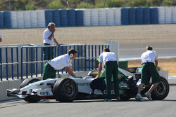 Honda Racing F1 Team, Running KERS on their car in Jerez, Mike Conway, Test Driver, Honda Racing F1 Team, RA108