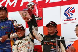 GT300 podium: second place Koji Yamanishi and Atsushi Yogo