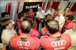 Audi Sport Team Rosberg team meeting
