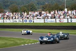 Sussex Trophy race: Barrie Williams leads in Tojeiro Jaguar