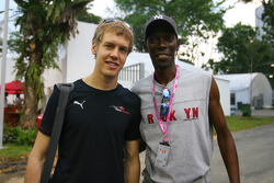 Sebastian Vettel, Scuderia Toro Rosso with Maxi Jazz of Faithless