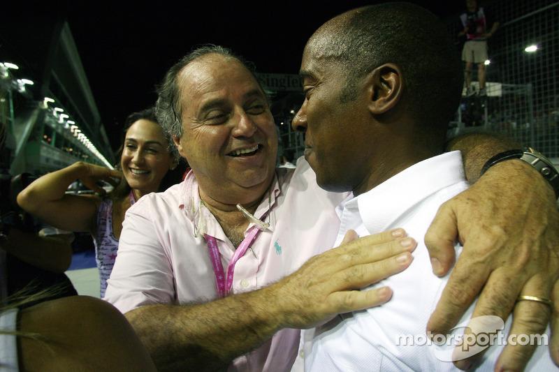 Luis Antonio Massa, Vater von Felipe Massa; Anthony Hamilton, Vater von Lewis Hamilton
