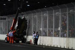 Аварія Нельсіньйо Піке, Renault F1 Team