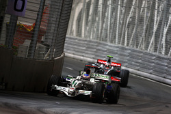 Jenson Button, Honda Racing F1 Team, RA108 leads Heikki Kovalainen, McLaren Mercedes, MP4-23