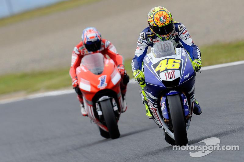 Pemenang 2008, Valentino Rossi dan Casey Stoner
