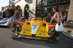 Petit Le Mans preview party at Atlantic Station: charming fans pose with the #15 Lowe's Fernandez Racing Acura ARX-01B Acura