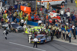 Regan Smith is stopped while heading to victory lane