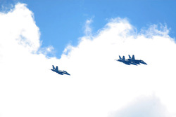 Flyover during the first practice session