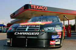 The Havoline Dodge sits outside a Texaco in Talladega
