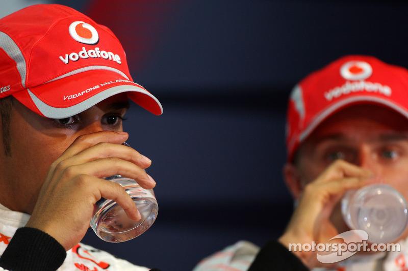 Conferencia de prensa de la FIA: Ganador de la pole Lewis Hamilton y el tercer puesto Heikki Kovalainen