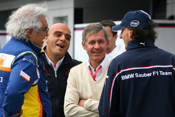 Flavio Briatore, Renault F1 Team, Team Chief, Managing Director, Robert Kubica, BMW Sauber F1 Team and his manager Daniele Morelli