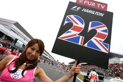 Grid girl, Lewis Hamilton, McLaren Mercedes