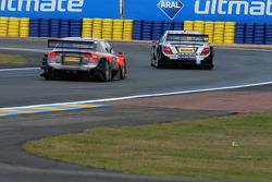 Bruno Spengler, Team HWA AMG Mercedes, AMG Mercedes C-Klasse infront of Christijan Albers, TME, Audi A4 DTM