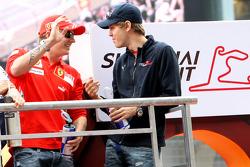 Kimi Raikkoenen and Sebastian Vettel