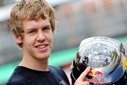 Sebastian Vettel and his new helmet