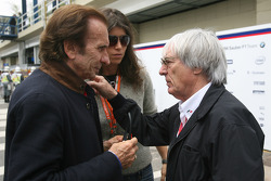 Emerson Fittipaldi and Bernie Ecclestone, President and CEO of Formula One Management