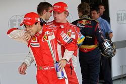 Pole winner Felipe Massa, third Kimi Raikkonen