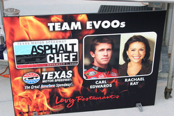 Carl Edwards is teamed with Rachel Ray as