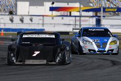 #7 Penske Racing Porsche Riley: Ryan Briscoe, Kurt Busch, #32 PR1 Motorsports Pontiac GXP.R: Mike Forest, Thomas Merrill, Al Salvo