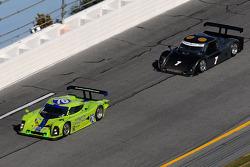 #76 Krohn Racing Pontiac Lola: Nic Jonsson, Darren Turner, #7 Penske Racing Porsche Riley: Ryan Briscoe, Kurt Busch