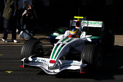 Bruno Senna, Test Driver, Honda Racing F1 Team, has his first run in a Formula One car- Formula 1 Testing, Barcelona