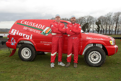 Team Dessoude presentation in Le Galicet: Stéphane Singery and Frédéric Chavigny with the Nissan Pathfinder T2