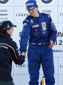 Podium: World Final winner Alexander Rossi with Robert Kubica